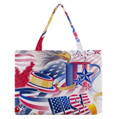 United States Of America Usa  Images Independence Day Medium Zipper Tote Bag