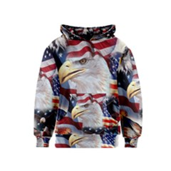 United States Of America Images Independence Day Kids  Pullover Hoodie