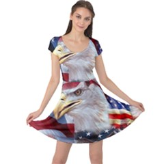 United States Of America Images Independence Day Cap Sleeve Dresses