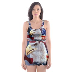 United States Of America Images Independence Day Skater Dress Swimsuit
