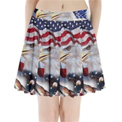 United States Of America Images Independence Day Pleated Mini Skirt