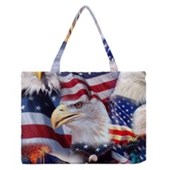 United States Of America Images Independence Day Medium Zipper Tote Bag