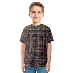 Unique Pattern Kids  Sport Mesh Tee