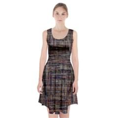 Unique Pattern Racerback Midi Dress