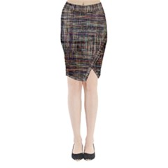 Unique Pattern Midi Wrap Pencil Skirt