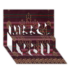 Ulos Suji Traditional Art Pattern Miss You 3D Greeting Card (7x5)