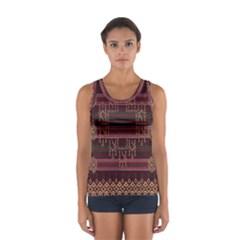 Ulos Suji Traditional Art Pattern Women s Sport Tank Top