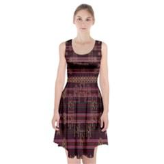 Ulos Suji Traditional Art Pattern Racerback Midi Dress