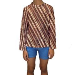 Udan Liris Batik Pattern Kids  Long Sleeve Swimwear