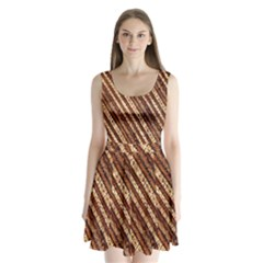 Udan Liris Batik Pattern Split Back Mini Dress