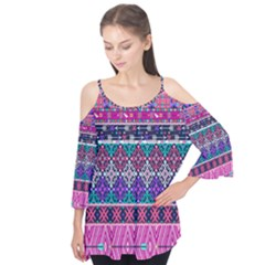 Tribal Seamless Aztec Pattern Flutter Tees