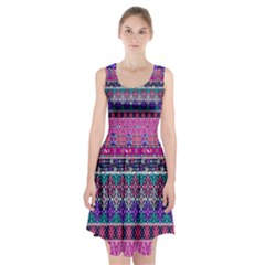 Tribal Seamless Aztec Pattern Racerback Midi Dress