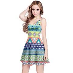 Tribal Print Reversible Sleeveless Dress