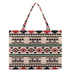 Tribal Pattern Medium Zipper Tote Bag