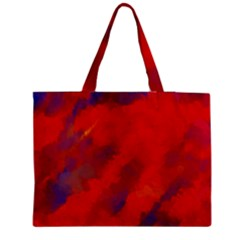 Smudges in Red Medium Zipper Tote Bag