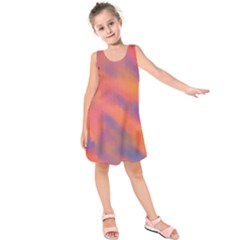 Smudges in Pink Kids  Sleeveless Dress