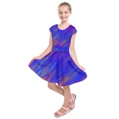 Smudges in Blue Kids  Short Sleeve Dress