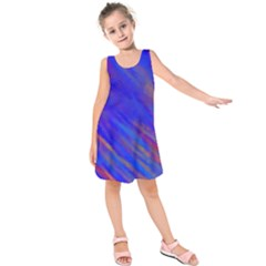 Smudges in Blue Kids  Sleeveless Dress