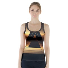 Triangle Penrose Clouds Sunset Racer Back Sports Top