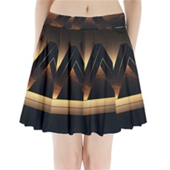 Triangle Penrose Clouds Sunset Pleated Mini Skirt