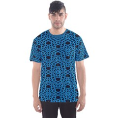 Triangle Knot Blue And Black Fabric Men s Sport Mesh Tee