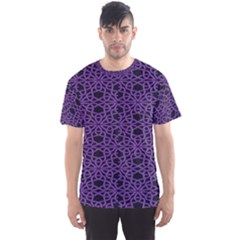 Triangle Knot Purple And Black Fabric Men s Sport Mesh Tee
