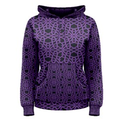 Triangle Knot Purple And Black Fabric Women s Pullover Hoodie