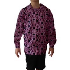 Triangle Knot Pink And Black Fabric Hooded Wind Breaker (Kids)