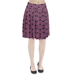 Triangle Knot Pink And Black Fabric Pleated Skirt
