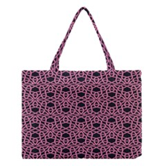 Triangle Knot Pink And Black Fabric Medium Tote Bag