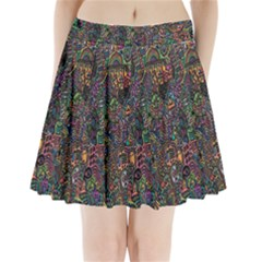 Trees Internet Multicolor Psychedelic Reddit Detailed Colors Pleated Mini Skirt