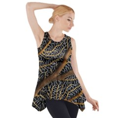 Trees Forests Pattern Side Drop Tank Tunic