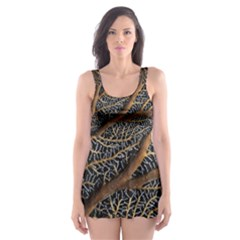 Trees Forests Pattern Skater Dress Swimsuit