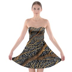 Trees Forests Pattern Strapless Bra Top Dress