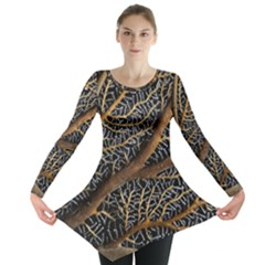 Trees Forests Pattern Long Sleeve Tunic