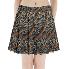 Trees Forests Pattern Pleated Mini Skirt
