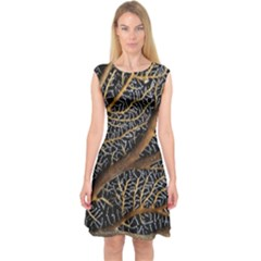 Trees Forests Pattern Capsleeve Midi Dress