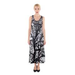 Tree Fractal Sleeveless Maxi Dress