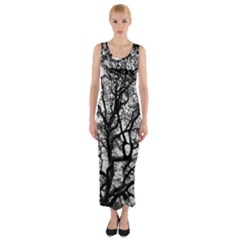 Tree Fractal Fitted Maxi Dress