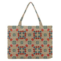 Traditional Scandinavian Pattern Medium Zipper Tote Bag