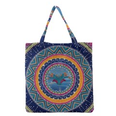 Traditional Pakistani Art Grocery Tote Bag
