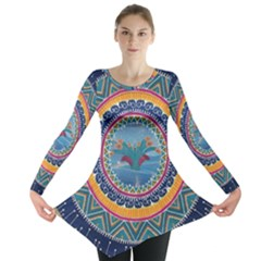 Traditional Pakistani Art Long Sleeve Tunic