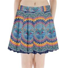 Traditional Pakistani Art Pleated Mini Skirt