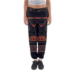 Traditional Northwest Coast Native Art Women s Jogger Sweatpants