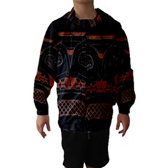 Traditional Northwest Coast Native Art Hooded Wind Breaker (Kids)