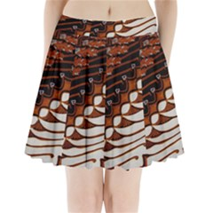 Traditional Batik Sarong Pleated Mini Skirt