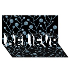 Blue decor BELIEVE 3D Greeting Card (8x4)