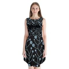 Blue decor Sleeveless Chiffon Dress