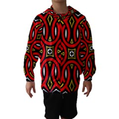 Traditional Art Pattern Hooded Wind Breaker (Kids)