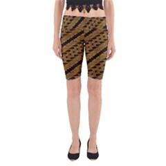 Traditional Art Indonesian Batik Yoga Cropped Leggings